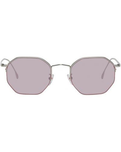 Czarne okulary skorzane Paul Smith