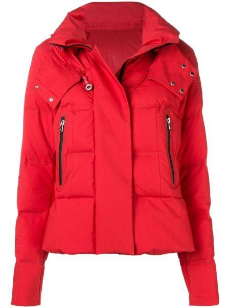 Хлопковая куртка с капюшоном мятная на пуговицах с карманами Peuterey