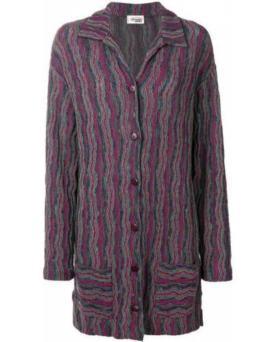 Прямая темно-синяя длинная куртка Missoni Pre-owned