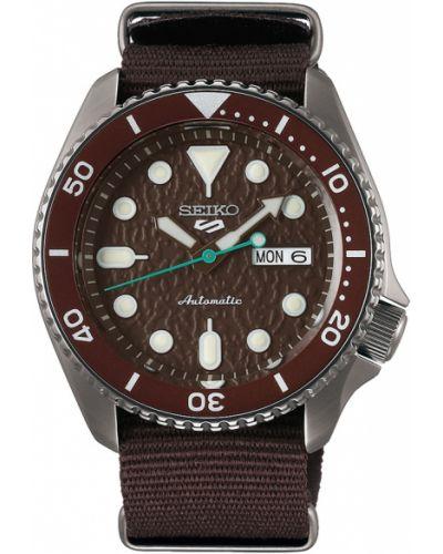 Brązowy zegarek sportowy Seiko