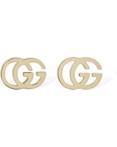 Złote kolczyki sztyfty Gucci