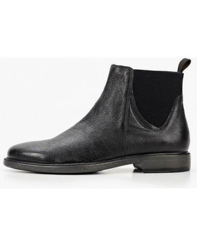 Кожаные черные ботинки челси Geox