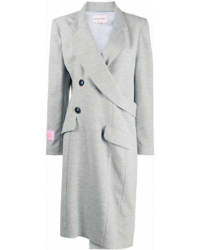 Шерстяное пальто - серое Natasha Zinko