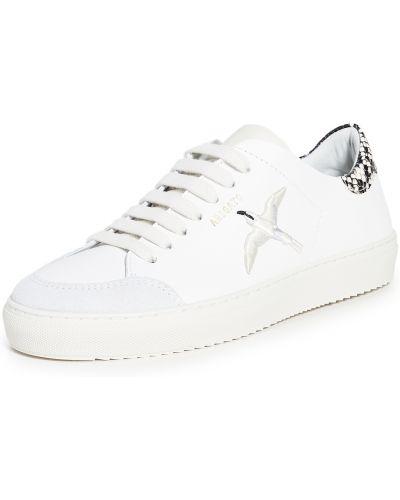 Białe sneakersy skorzane sznurowane Axel Arigato