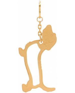 Золотистый коричневый брелок Thom Browne