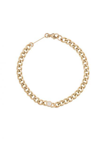 Bransoletka ze złota łańcuch z diamentem Zoë Chicco