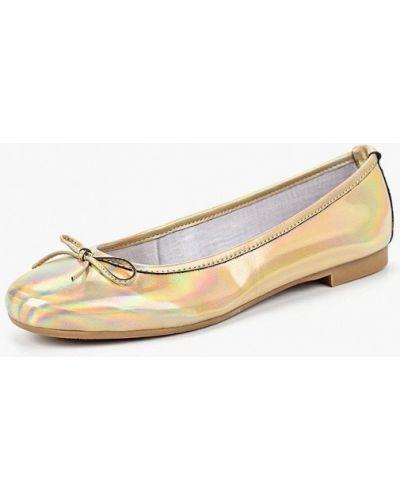 Балетки золотого цвета Tosca Blu