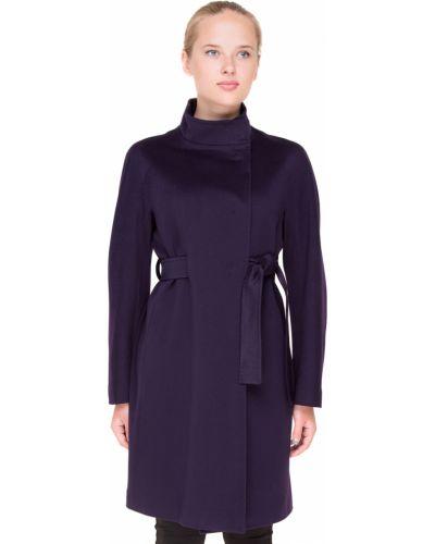 Фиолетовое шерстяное пальто с капюшоном Heresis