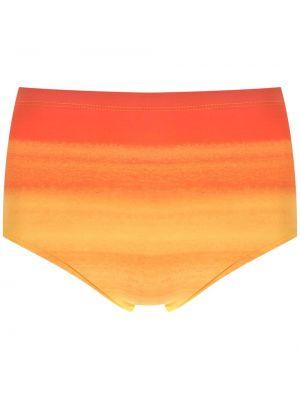 Оранжевые плавки с низкой посадкой с подкладкой Amir Slama