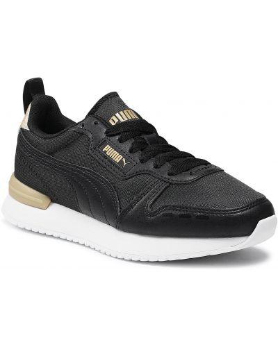 Złote buty sportowe - czarne Puma