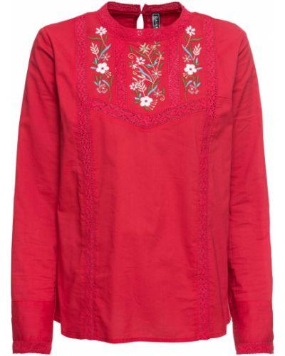 Блузка с вышивкой красная Bonprix