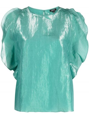 Bluzka z jedwabiu - zielona Aspesi