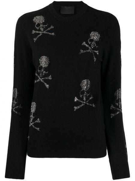 Шерстяной свитер - черный Philipp Plein
