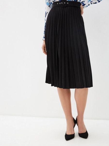 Плиссированная юбка черная весенняя Zarina