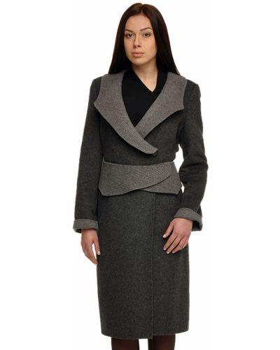 Шерстяное пальто - серое Armani Collezioni