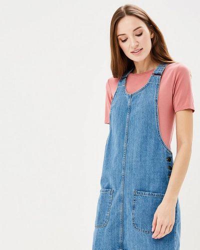 Джинсовое платье весеннее синее Modis
