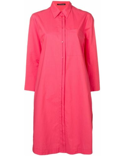 Платье миди на пуговицах - розовое Luisa Cerano