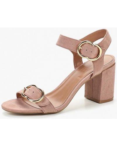 Розовые босоножки на каблуке Topshop