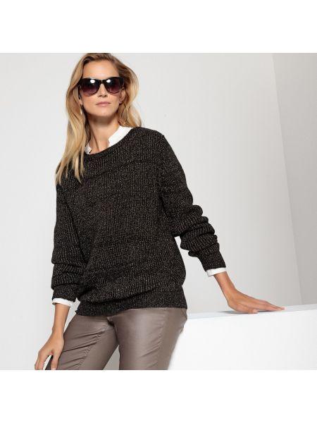 Пуловер в рубчик длинный Anne Weyburn