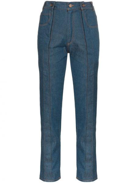 Прямые пляжные джинсы с высокой посадкой Delada