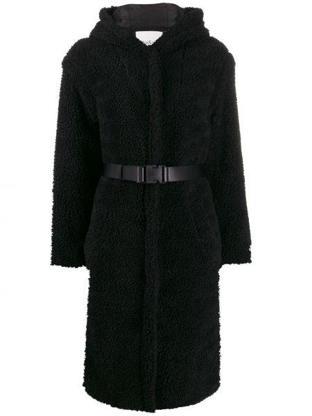 Пальто с капюшоном с поясом айвори Ba&sh