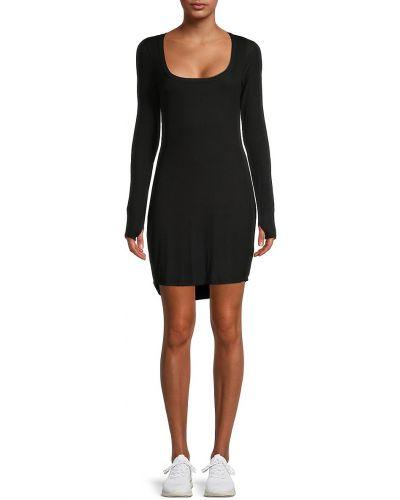 Sukienka długa z długimi rękawami - czarna Michael Lauren