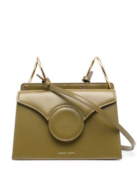 Кожаная сумка через плечо - зеленая Danse Lente