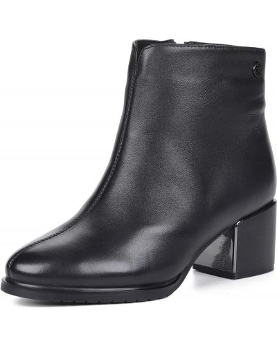 Черные кожаные ботинки Respect