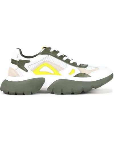 Кожаные кроссовки - белые Maje