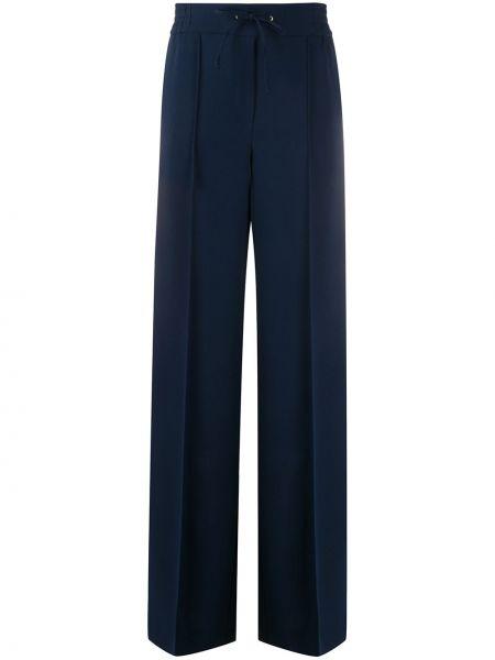 Синие свободные брюки с поясом свободного кроя Edward Achour Paris
