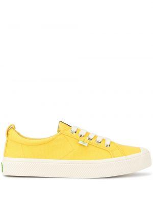 Sneakersy żółty z płótna Cariuma