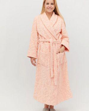Розовый домашний халат Прованс