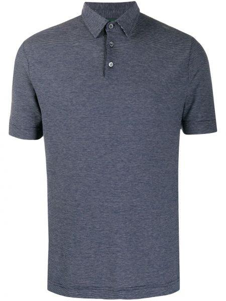 Koszula krótkie z krótkim rękawem klasyczna z paskami Zanone