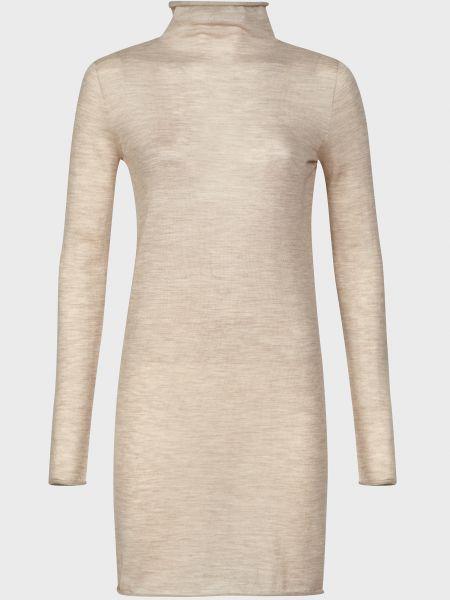 Кашемировое бежевое платье Agnona