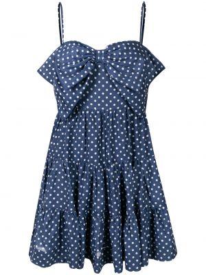 Платье мини в горошек - синее Alice Mccall