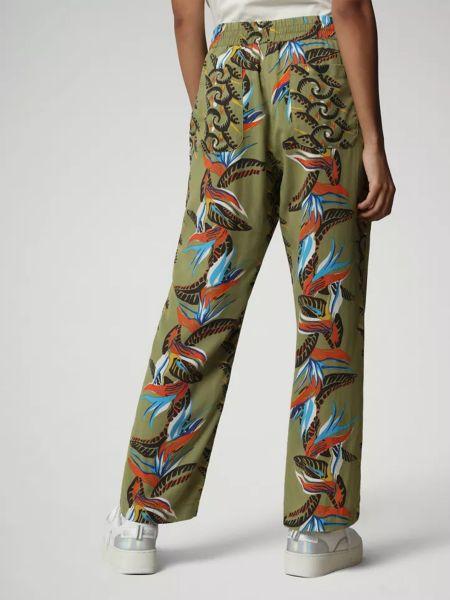 Бежевые брюки повседневные с карманами на молнии Napapijri