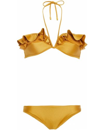 Желтые бикини металлические стрейч Zimmermann