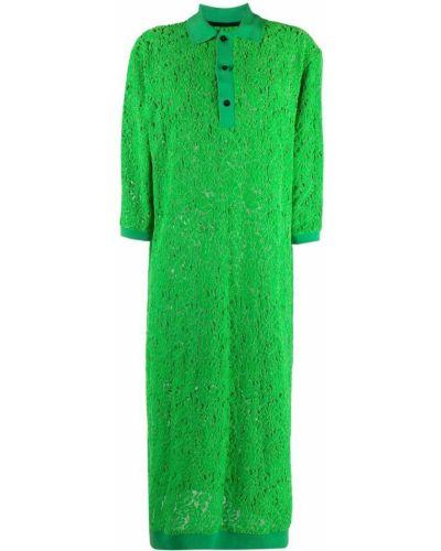 Зеленое платье из полиэстера Henrik Vibskov