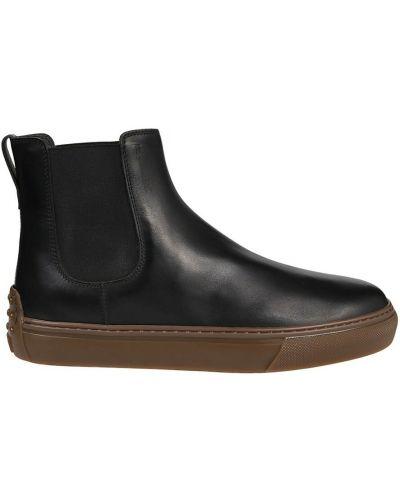 Czarne ankle boots Tod's