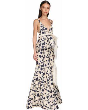 Платье макси из фатина с открытой спиной Brock Collection