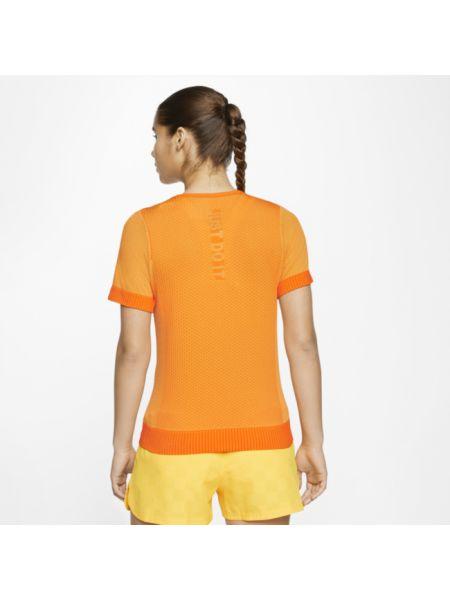 Top z napisem perforowany Nike