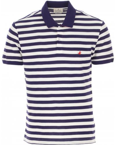 T-shirt w paski bawełniany krótki rękaw Brooksfield
