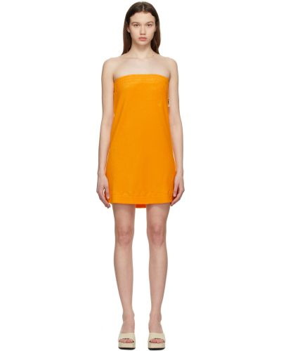 Sukienka mini bawełniana - żółta Simon Miller