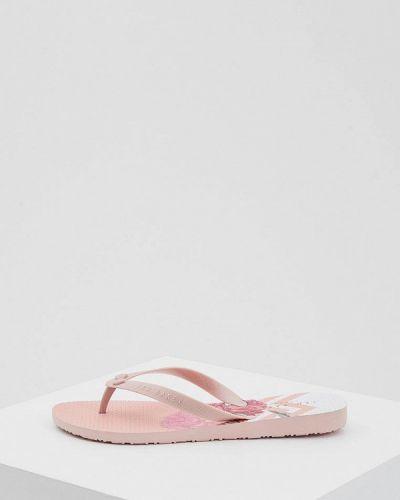 Розовые шлепанцы пляжные Ted Baker London