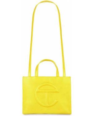 Żółta torebka skórzana Telfar