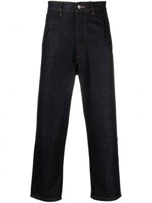 Синие с завышенной талией прямые джинсы SociÉtÉ Anonyme