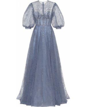 Платье из фатина с вышивкой Costarellos