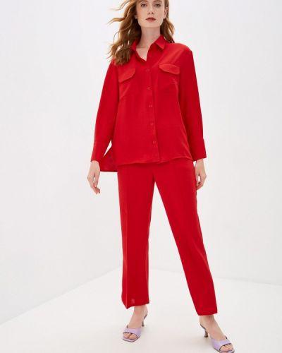 Костюмный красный брючный костюм Imocean