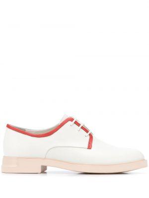 Koronkowa skórzany buty brogsy na sznurowadłach kaskada Camper