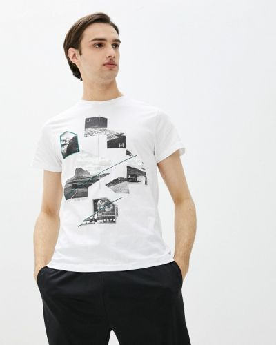 Белая футболка с короткими рукавами J. Hart & Bros